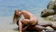 Bottom of the totum Blacked strong black man fucks blonde tourist on the beach
