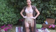 Firm tit clips Babe sophia smith strips on picnic to flash firm tits pussy retro nylons