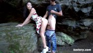 Asian crip walk Nature walk turns into amateur hardcore sex session - lustery
