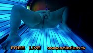 Naked tanning beds Bbw fat gilr in real public tanning salon masturbation on tanning bed