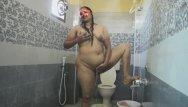 Hairy desi girls Desi bhabhi fingering her hairy pussy while in shower