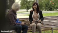 Crotchless thungs nude Jeny smith was caught wearing crotchless pants in public