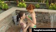 Anna faris in bikinis Fiery redhead penny pax tongue fucks anna deville