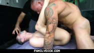 Gay muscular butts Familydick - muscled stepdad pounds his stepsons butt