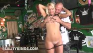 Barmaid sexy Busty barmaid savanna will do anything for a big enough tip - reality kings