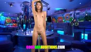 Hand job auditions Petite thai slut sucks big cock for a job