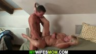 Mother-in-law pussy Fucked his lustful mother in law in pussy