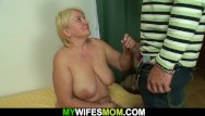 Chubby moms fucking son Busty blonde granny fucks son in law