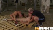 Gay sex dungeun Sub johnny polak made suck twink cock by maledom in dungeon