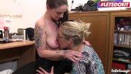 Mature secretary milf Letsdoeit - german wife joins secretary into fucking her boss