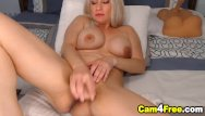 Vulva clitoris sleepover masturbation Sexy blonde cutie fucking her vulva with dildo