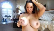In focus nude Monica mendez birthday show with her giant tits in focus webcam