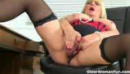 Mature older females - English milf eva jayne dildo fucks her shaven fanny