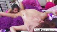Zoe pan asian Asa akira is in a naughty mood and brings girlfriend zoe voss in to play