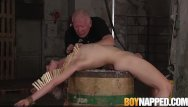 Visual gay test Young sub is in pain as he gets tested hard by maledom