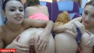 Young teen dildoing Four young teens naked put dildos in theirs cunts - amatuervideo