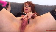 Xxx mature thumbs Busty mature redhead red xxx stretches her pussy wide