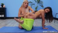Blonde nude lesbians - Abella danger and katana kombat do some hot wet yoga