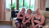 Busty lovely mature Agedlove three busty british matures and one dick