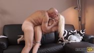 Teen prom hair style Daddy4k. pretty blonde-haired girl has the first old and young sex