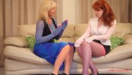 Marlene justin xxx Red xxx and her girlfriend fuck while wearing nylons