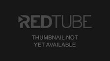 Redhead babe fucked on the red sofa