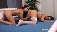 Cynthia Rachel And Girlfriend Play With Pee