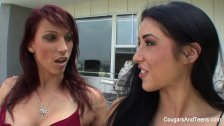 Redhead MILF gets nasty with her stepdaughter