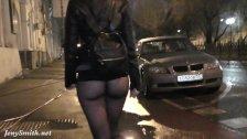 Bottomless at bar. Jeny Smith