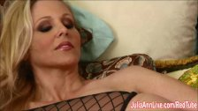 Sexy Milf Julia Ann Cums Hard in Stockings!