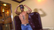 Maskurbate Straight Hunk Showing Off Juicy Co