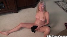 Grandma Claire's old pussy needs attention