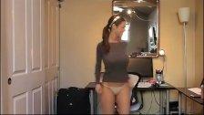 Girl with amazing big tits dancing on webcam