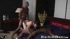 Lusty white guy returns for more black cocks