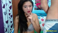 18 and 19 Colombian Couple Sex Tape Blowjob