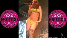 Jordanne Kali kiwi dance on stage