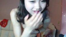 Little Korean teen stripped webcam tease