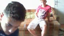 2 cute Romanian boys wank on cam - no cum