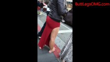 Candid Asian in Tight Dress