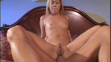 Blonde bitch getting fucked deep in her assho