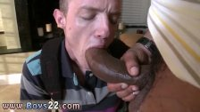 Young black boy takes big white old cock