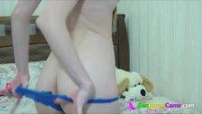 18yo girl fingers her ass on cam