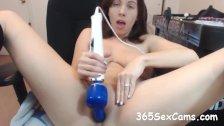 Kneesock Cutie Gives HOT Webcam Show