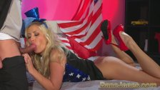 DaneJones blonde celebrates freedom to fuck