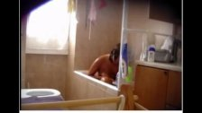 Shower spying the tan lines my Niece