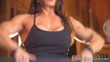 Denise Masino - Work it out Video - Female Bodybuilder