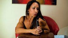 Denise Masino - My Office Jerk Video - Female Bodybuilder