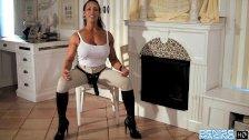 Denise Masino - Pony Up Strap-on Video - Female Bodybuilder