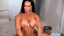 Denise Masino - Camo Workout Video - Female Bodybuilder
