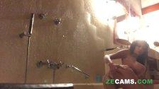 Milf fingering anal shower